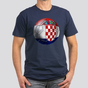 Croatia Football Men's Fitted T-Shirt (dark)