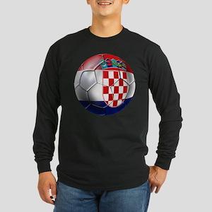 Croatia Football Long Sleeve Dark T-Shirt
