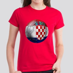 Croatia Football Women's Dark T-Shirt