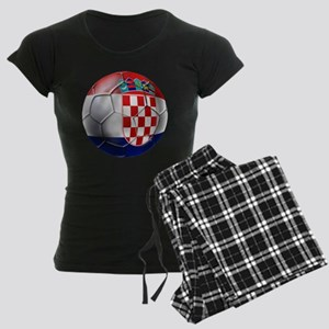 Croatia Football Women's Dark Pajamas