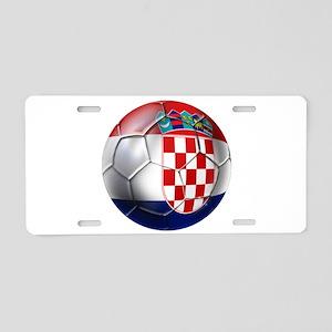 Croatian Football Aluminum License Plate