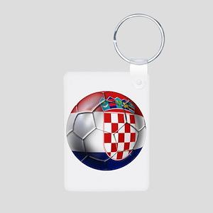 Croatian Football Aluminum Photo Keychain