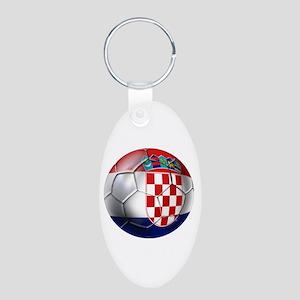 Croatian Football Aluminum Oval Keychain