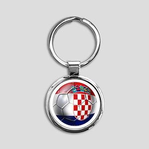 Croatian Football Round Keychain