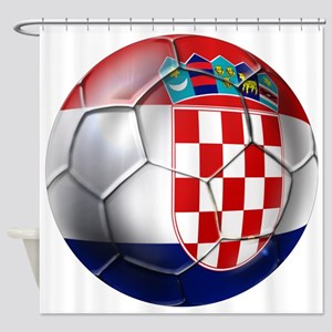Croatian Football Shower Curtain