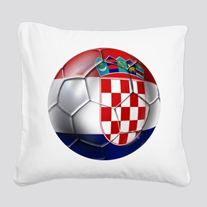 Croatian Football Square Canvas Pillow