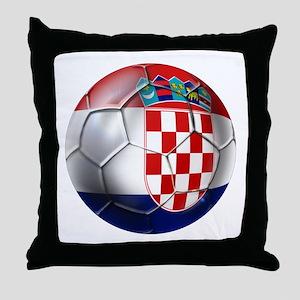 Croatian Football Throw Pillow