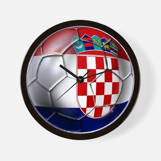 Croatian Football Wall Clock
