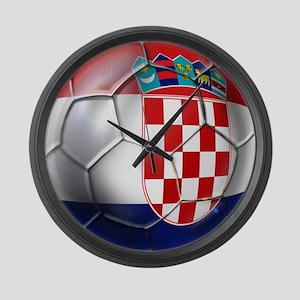 Croatian Football Large Wall Clock