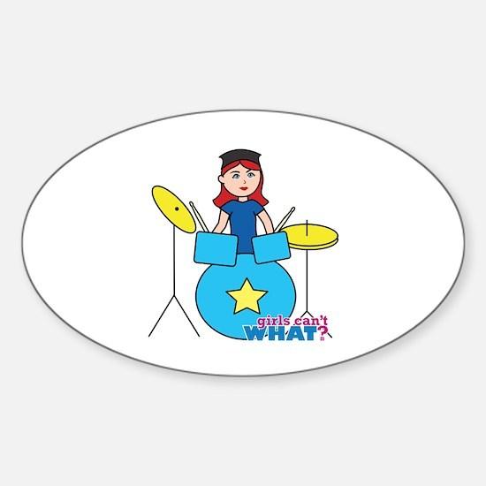 Drummer Light/Red Sticker (Oval)