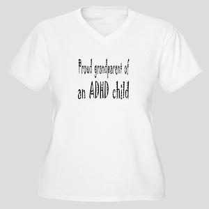 Plus V-neck T for grandparent of ADHD child