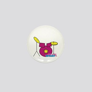 Drums Pink Mini Button
