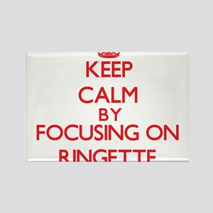 Keep calm by focusing on on Ringette Magnets