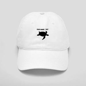 Custom Sea Turtle Silhouette Baseball Cap