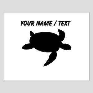 Custom Sea Turtle Silhouette Posters