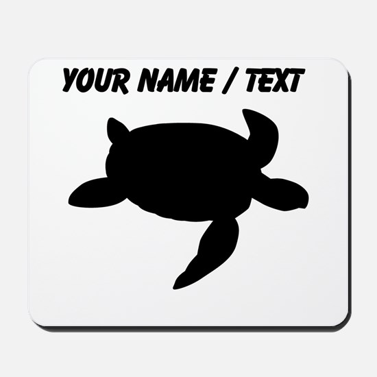 Custom Sea Turtle Silhouette Mousepad