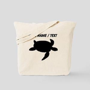 Custom Sea Turtle Silhouette Tote Bag