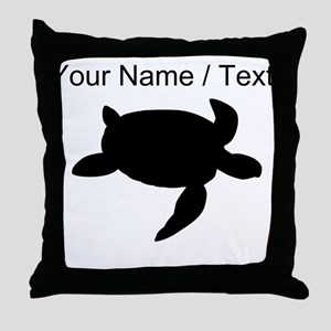 Custom Sea Turtle Silhouette Throw Pillow