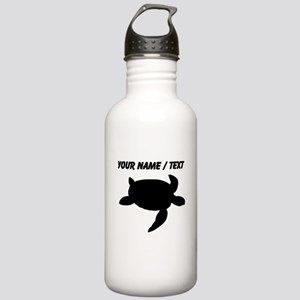 Custom Sea Turtle Silhouette Water Bottle