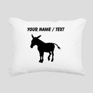 Custom Donkey Silhouette Rectangular Canvas Pillow