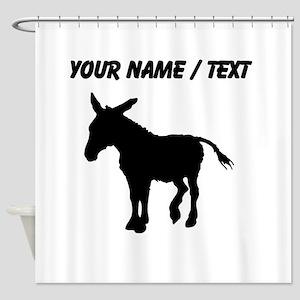 Custom Donkey Silhouette Shower Curtain