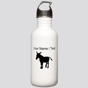 Custom Donkey Silhouette Water Bottle