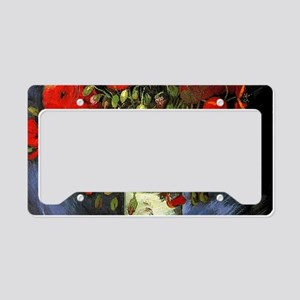 Red Poppy by Vincent van Gogh License Plate Holder