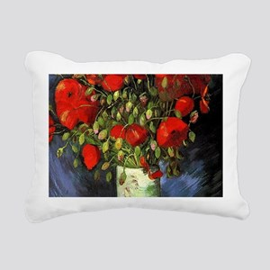 Red Poppy by Vincent van Rectangular Canvas Pillow