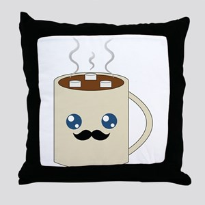 Classy Cocoa Throw Pillow
