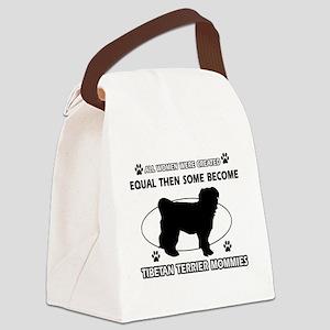 Tibetan Terrier mommy designs Canvas Lunch Bag