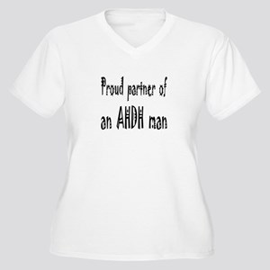 Plus V-neck T for the partner of an ADHD man