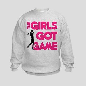 GOT GAME, B-BALL Kids Sweatshirt