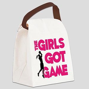 GOT GAME, B-BALL Canvas Lunch Bag