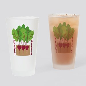 HEART BEETS Drinking Glass
