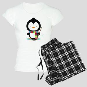 Hockey Christmas Penguin Women's Light Pajamas