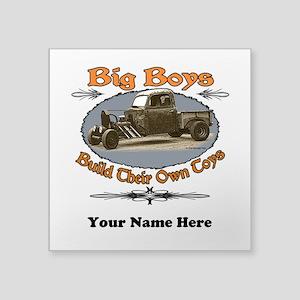"""Rat Rod Truck Rusty Metal Square Sticker 3"""" x 3"""""""