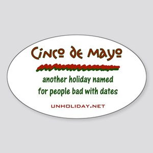 Cinco de Mayo Date Oval Sticker