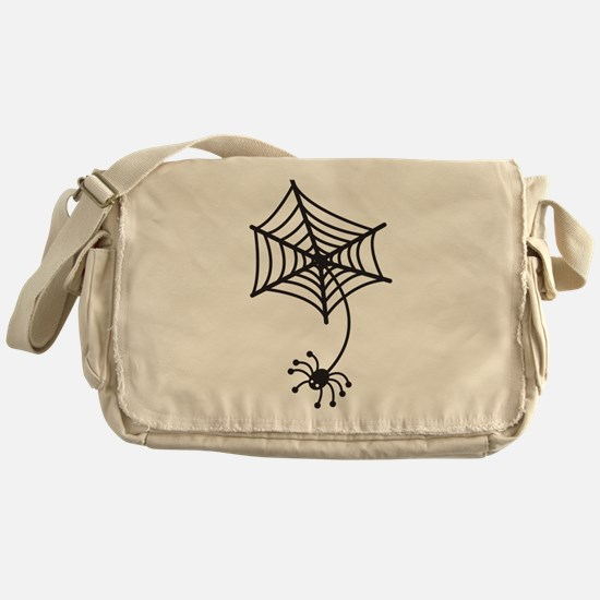 cute Spider in a web Messenger Bag
