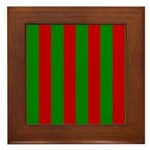 Toksie Turbies Green Red Wallpaper Framed Tile
