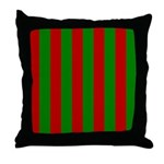 Toksie Turbies Green Red Wallpaper Throw Pillow