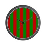 Toksie Turbies Green Red Wallpaper Wall Clock