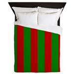 Toksie Turbies Green Red Wallpaper Queen Duvet