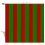 Toksie Turbies Green Red Wallpaper Shower Curtain