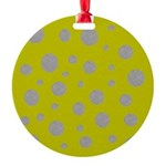 Toksie Turbie Gold and Silver Polka Dots Ornament
