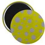 Toksie Turbie Gold and Silver Polka Dots Magnets