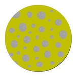 Toksie Turbie Gold and Silver Polka Dots Round Car
