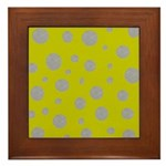 Toksie Turbie Gold and Silver Polka Dots Framed Ti