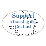 Tracking Oval Sticker