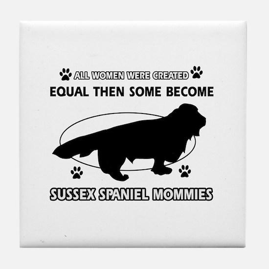 Labrador dog breed mommy designs Tile Coaster
