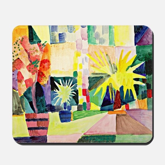 August Macke - Garden on Lake Thun Mousepad